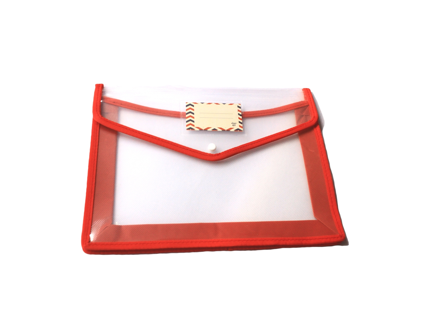 Store67 Document Folder With Piping (Red)