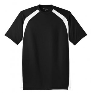 Big Mens Dry Zone[tm] Colorblock Crew Shirt by Sport-Tek (Big & Tall and Regular Sizes)