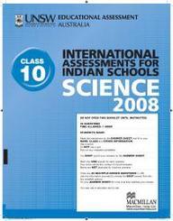 Iais 2008 Question Paper Booklet : Science 2008 - Class 10 [2008 Iais]
