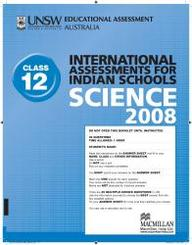 Iais 2008 Question Paper Booklet : Science 2008 - Class 12 [2008 Iais]