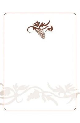 Grape Cluster Bookplate - Blank, Pack of 15