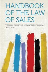Handbook of the Law of Sales