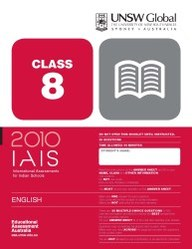 Iais 2010 Question Paper Booklet : English 2010 Class 8 [2010 Iais]