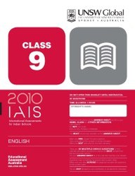 Iais 2010 Question Paper Booklet : English 2010 Class 9 [2010 Iais]