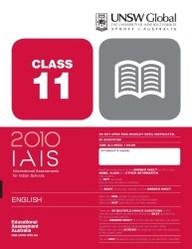 Iais 2010 Question Paper Booklet : English 2010 Class 11 [2010 Iais]