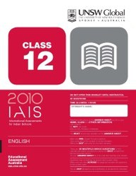 Iais 2010 Question Paper Booklet : English 2010 Class 12 [2010 Iais]