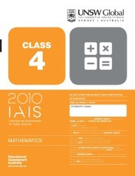 Iais 2010 Question Paper Booklet : Mathematics 2010 - Class 4 [2010 Iais]
