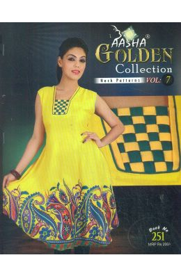 Aasha Golden Collection Neck Patterns Vol -7