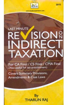 Last Minute Revision On Indirect Taxation