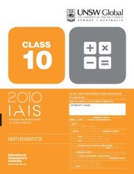 Iais 2010 Question Paper Booklet : Mathematics 2010 - Class 10 [2010 Iais]