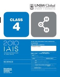 Iais 2010 Question Paper Booklet : Science 2010 - Class 4 [2010 Iais]