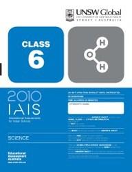 Iais 2010 Question Paper Booklet : Science 2010 - Class 6 [2010 Iais]