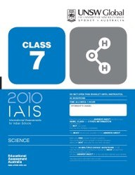 Iais 2010 Question Paper Booklet : Science 2010 - Class 7 [2010 Iais]