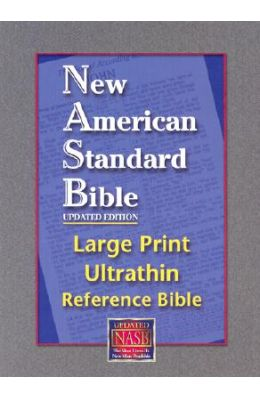 Large Print Ultrathin Reference Bible-NASB [With Velvet Book Holder]