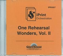 One Rehearsal Wonders, Volume 2 Cd Iprint Orchestration