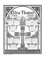 Altar Flower Chart# 1