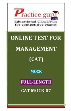 Online Test for Management: CAT: Mock: Full-Length: CAT Mock 07