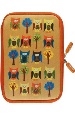 NeoSkin Owls Cover for Kindle Fire Neoprene Jacket: With Built-In Screen Protection
