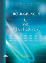 Programming In C & Data Structure For 1 & 2 Sem Vtu