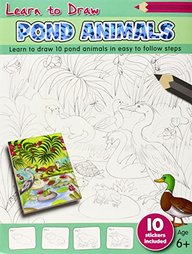 Learn To Draw Pond Animalas : Learn To Draw 10 Pond Animals In Easy To Follow Steps 6+