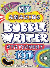 My Amazing Bubble Writer Stationery Kit With 19 Stickers and 16 Envelopes and 8 Postcards and 8 Letter Sheets