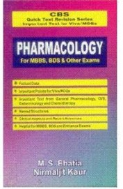 Cbs Pharmacology For Mbbs Bds & Other Exams Quick Text Revision Series