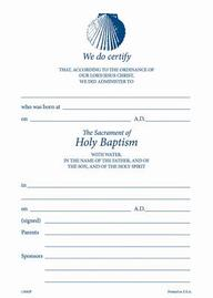 # 130 Embossed Shell Baptismal Certificate[ Pack of 25 W/ Envelope] : # 130r