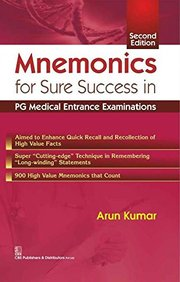 Mnemonics : For Sure Success In Pg Medical Entrance Examinations