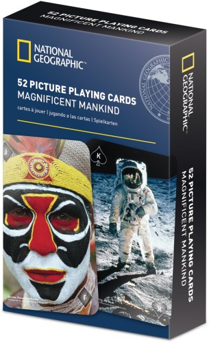 National Geographic 52 Picture Playing Cards-Magnificent Mankind
