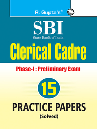 Sbi Clerical Cadre Phase 1 Preliminary Exam 15 Practice Papers Solved