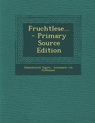 Fruchtlese... - Primary Source Edition (German Edition)