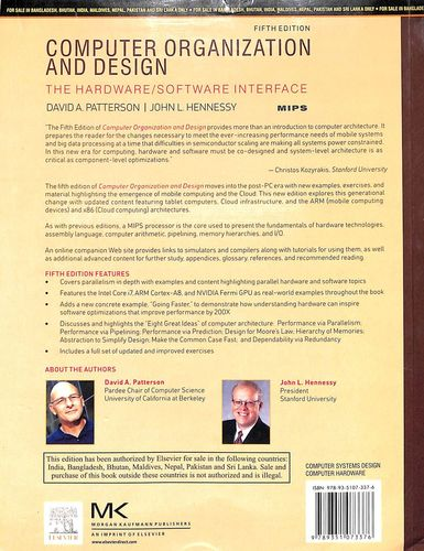 Buy Computer Organization Design The Hardware Software Interface Book David A Patterson John L Hennessy 9351073378 9789351073376 Sapnaonline Com India