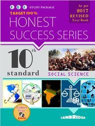 Social Science Class 10 Honest Success Series Target 100%