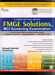 Complete Nbe Centric Approach Fmge Solutions For Mci Screening Examination W/Cd