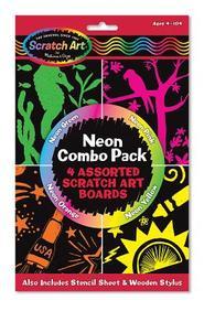Neon Scratch Art Combo Pack