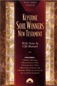 Keystone Soul Winners New Testament: King James Version (Kjv), Burgundy Imitation Leather, Gold-Edged