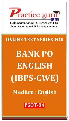 Online Test Series for Bank PO English (IBPS-CWE)
