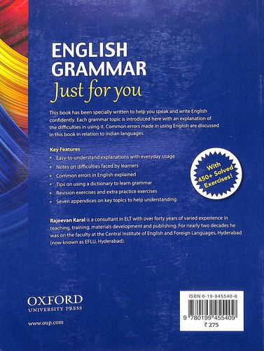 Buy English Grammar Just For You book : Rajeevan Karal