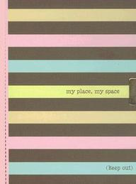 Striped Locking Journal: My Place, My Space (Notebook) (2ND GEN LOCK!)