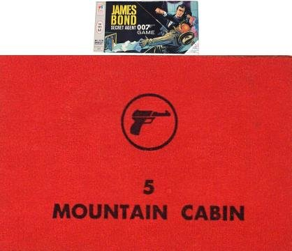 No. 5 Mountain Cabin Card for 1964 James Bond Secret Agent 007 Game