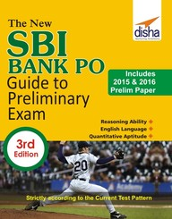 Sbi Bank Po Guide To Preliminary Exam  Includes 2015 & 2016 Prelim Paper