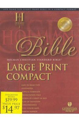 Large Print Compact Bible-Hcsb