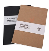 Kreative Notepad Black, Kraft( Set of 2)