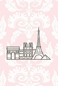 Paris Skyline Small Wiro Bound Book (Spank Stationery)