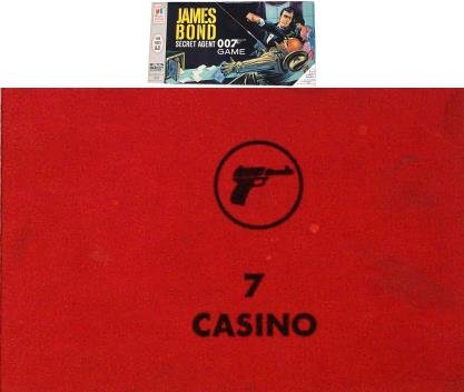No. 7 Casino Card for 1964 James Bond Secret Agent 007 Game