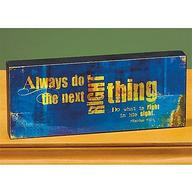 Next Right Thing Mini Plaque