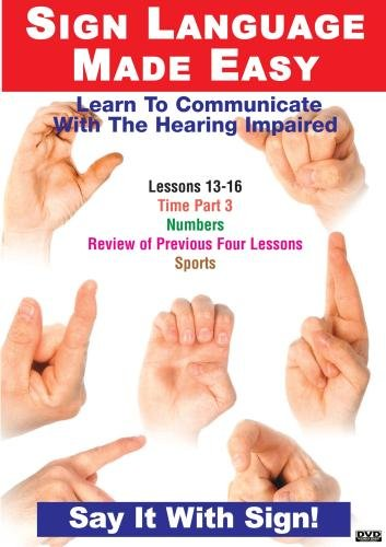 Sign Language Dvd Series 13- 16: Time, Numbers & Sports: Language Arts