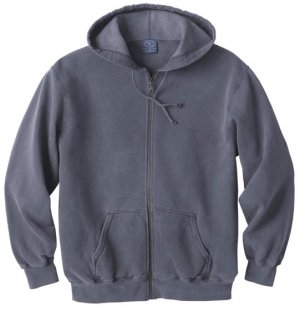 Big Mens Vintage Fleece Hooded Zipper Jacket - Premium Collection (Big & Tall and Regular Sizes)