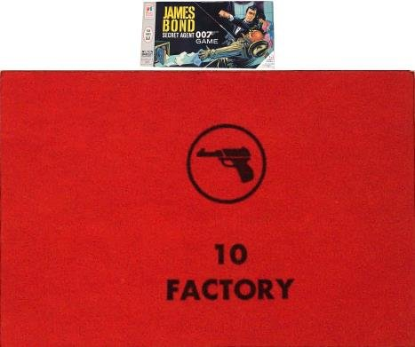 No. 10 Factory Card for 1964 James Bond Secret Agent 007 Game