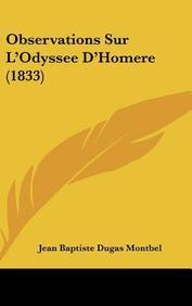 Observations Sur L'Odyssee D'Homere (1833)